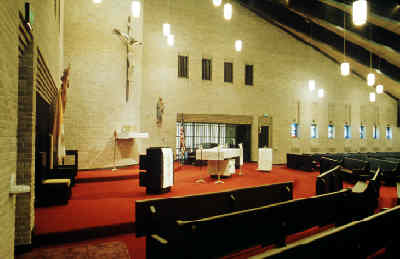 Sacred Heart Catholic Church Interior View